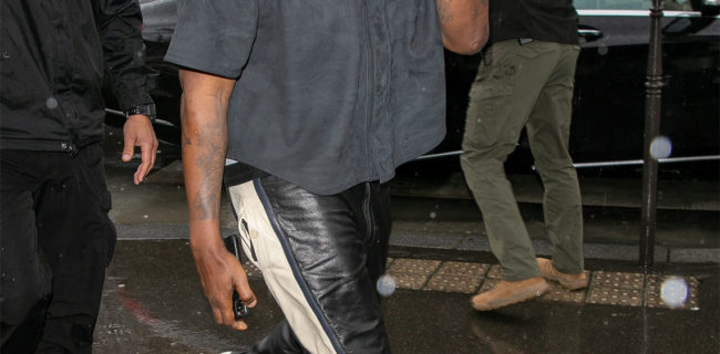 Kanye West debuts the new Yeezy 451 at Paris fashion week